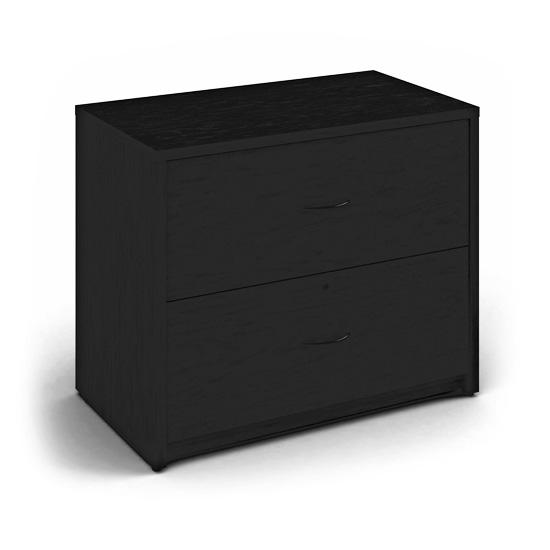 2 Drawer Lateral File - Black
