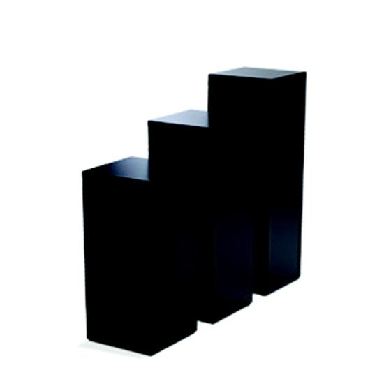 Display Pedestal 30″ Black 24″ Sq.